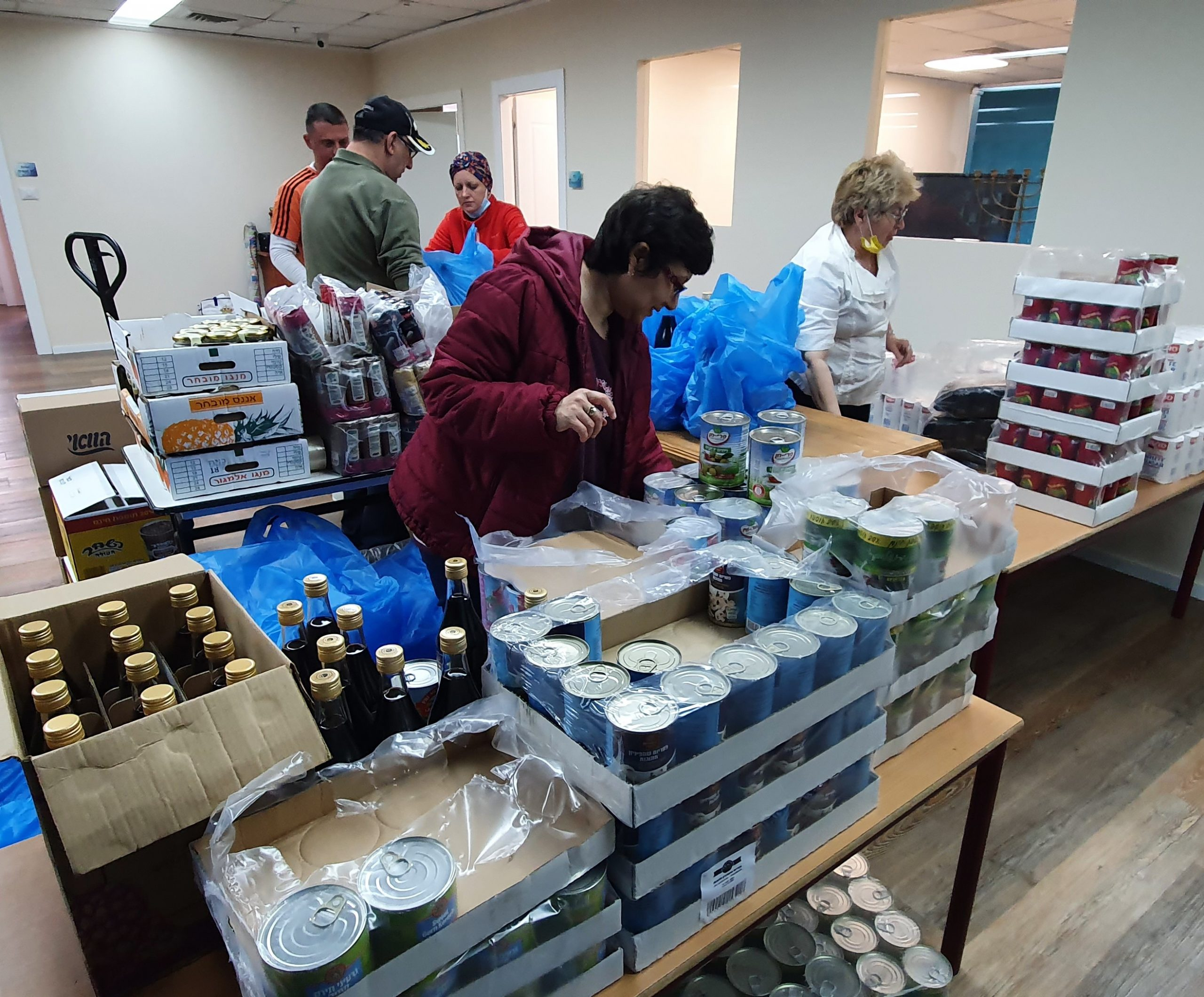 Needy Families Fed During Passover